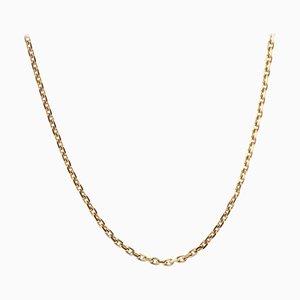Cadena de convicción francesa moderna con cadena de oro rosa de 18 quilates