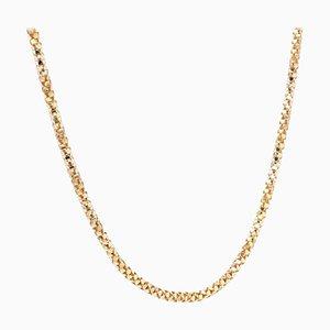 French Orvet Mesh 18 Karat Rose Gold Chain, 1950s