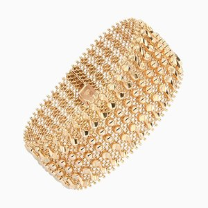 Gewobenes 18 Karat Roségold Armband, 1960er