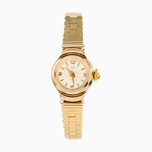Yellow Gold Lip Ladies Wrist Watch, 1960s