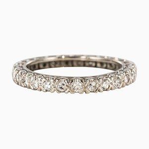 Diamond Platinum Wedding Ring, 1950s