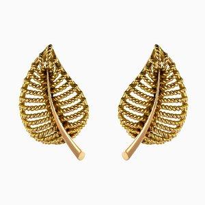 Orecchini a clip in oro giallo 18 carati, Francia, anni '80, set di 2