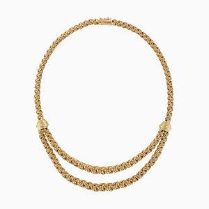 18 Karat Roségold Halskette mit Drapierung, 1960er