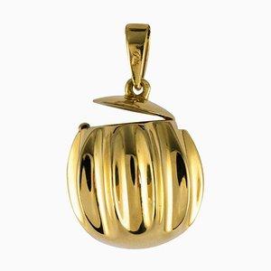 Lámpara colgante Secret de oro amarillo de 18 quilates, años 80
