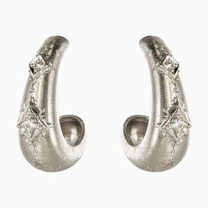 Aretes Diamond de oro blanco de 18 quilates. Juego de 2