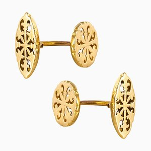 Gemelli antichi in oro giallo, Francia, inizio XX secolo, set di 2
