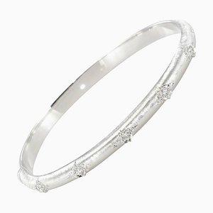 Brazalete con brazalete de diamantes cepillado