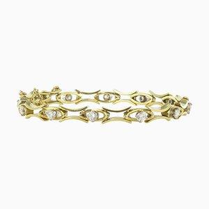 1.35 Carat Diamond Gold Bracelet