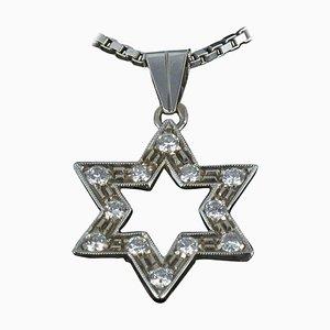 Lámpara colgante Diamond Gold Star con cadena