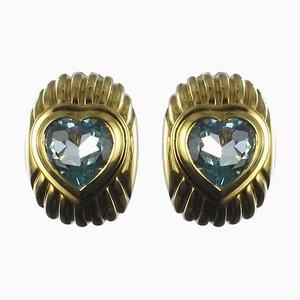 Orecchini a forma di cuore in oro, set di 2