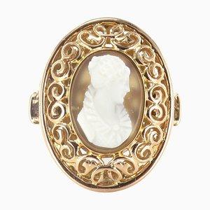 Anillo Cameo francés antiguo de oro