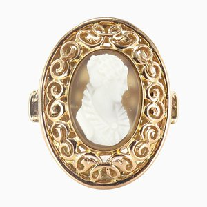 Antique French Gold Cameo Ring