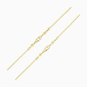 Moderne Italienische Gold Matinee Halskette