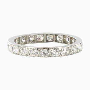 1 Carat Diamond Platinum Eternity Band Ring
