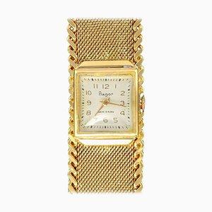 Flamor Ladies Armbanduhr in Gelbgold mit Handaufzug