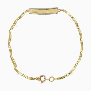 French 18 Karat Yellow Gold Baby Curb Bracelet, 1900s