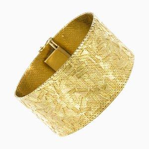 Modern Decor 18 Karat Gelbgold Ribbon Armband, 1960er