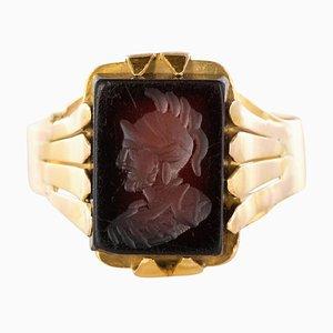 20th Century 18 Karat Rose Gold Sardoine Unisex Signet Ring