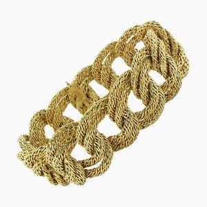 Fransenförmiges Golden Braid Gliederarmband aus den 1960er Jahren, 1960er