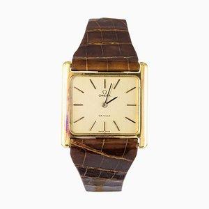 Reloj para hombres De Ville de oro de 18 quilates de Omega, años 60