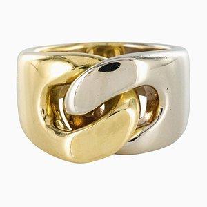 Modern Pomellato 18 Karat Yellow White Gold Ring