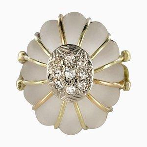 Anillo de oro con diamantes, años 60