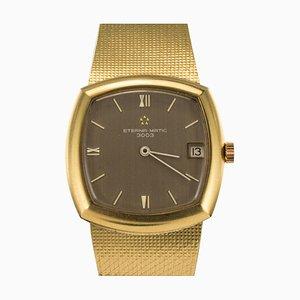Vintage Eterna-Matic 3000 Armbanduhr in Gelbgold von Brown, 1960er