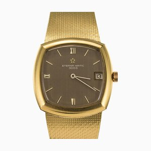 Vintage Eterna-Matic 3000 Yellow Gold Automatic Wristwatch by Brown, 1960s