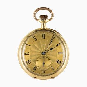 Reloj de bolsillo de oro amarillo y rosa de Zenith, década de 1900