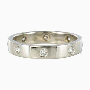 Alianza de plata con anillo de platino de 0,24 quilates