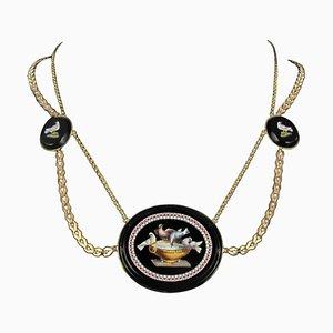 Antike goldene Micro Mosaic Halskette, 1820er