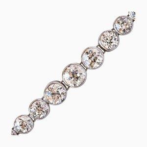 Maison Auger Platin Diamant-Armband aus 22 Karat, 1900er