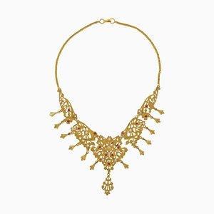 Halskette in Gelbgold, 1970er