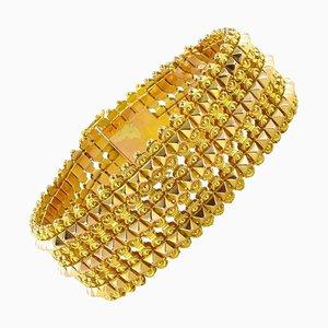 French Flexible Two Gold Bracelet, 1900s