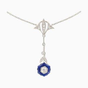 Französische Platin und Diamant Halskette, 1925