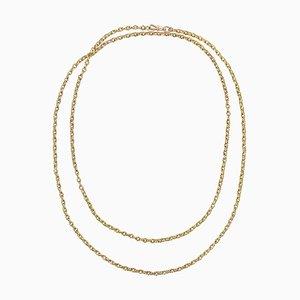 Halskette aus 18 Karat Gelbgold in 19. Jh