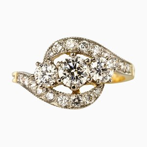 French Trilogy Diamond Ring