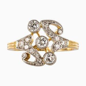 French Gold Platinum Ring