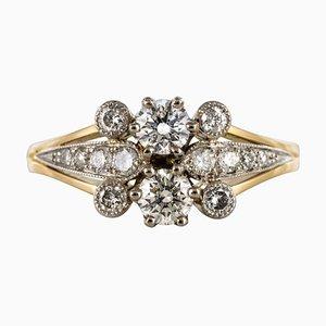 Französischer Diamond Gold Ring