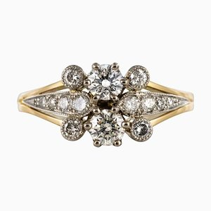 French Diamond Gold Ring