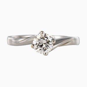 0.55 Carat Diamond Gold Solitaire Ring