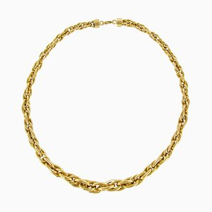 18 Karat Yellow Gold Nested Mesh Necklace
