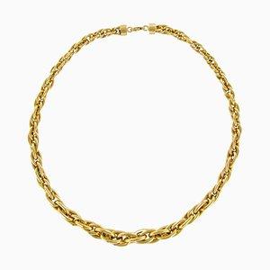 Collar de malla de nudo de oro amarillo de 18 quilates