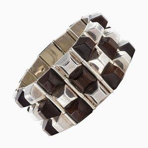Rosewood Silver Cuff Bracelet