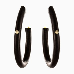 Große Afrikanische Kreolen Ohrringe mit Großen Kreolen, 2er Set