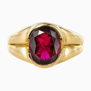 French 18 Karat Yellow Gold Ring, 1980s