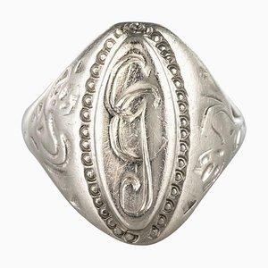 19th Century Silver Unisex Signet Ring