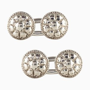 French 18th Century Sterling Silver Cufflinks, Set of 2