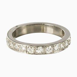 Französischer Platin Diamant Ehering, 1930er