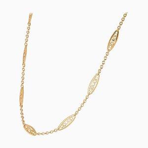 Filigrane Halskette in Roségold, 20. Jh